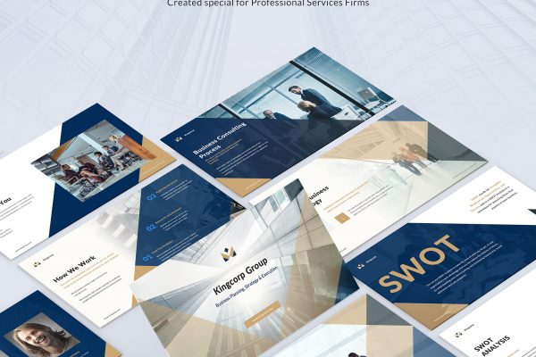 Kingcorp Business Consulting – Cutting Edge Corporate Business Presentation Template